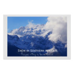 Snow in Southern Africa II Poster