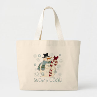 Snow is Cool Holiday Tshirts and Gifts Jumbo Tote Bag