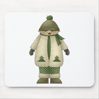 Snow Kids · Boy in Cream & Green Mouse Pad