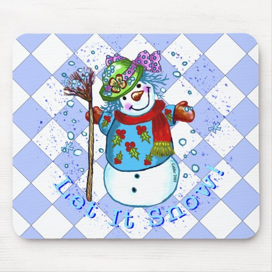 Snow Lady Snowman Mouse Mat