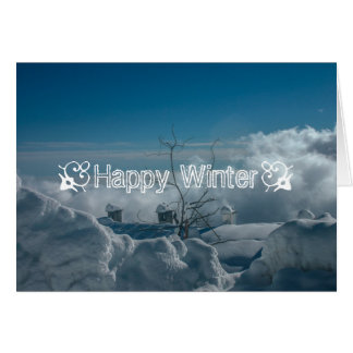 Snow landscape card