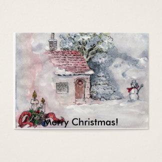 Snow landscape, Merry Christmas! Business Card