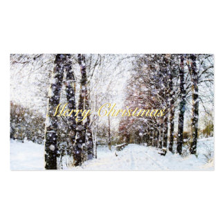 Snow Landscape Merry Christmas Gift Tags Pack Of Standard Business Cards