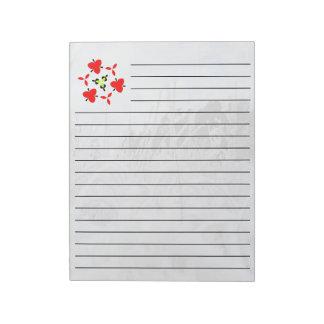 snow landscape notepad
