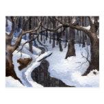 Snow Landscape Print Postcard
