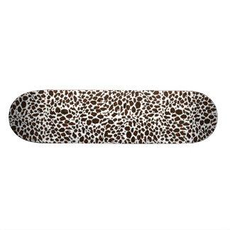 Snow Leopard Animal Print Skateboard