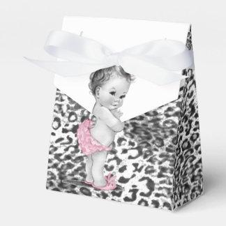 Snow Leopard Baby Shower Favor Boxes