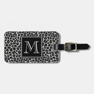 Snow leopard bag tag