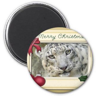 Snow Leopard-BCR-c-147 copy 6 Cm Round Magnet