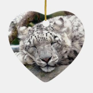 Snow Leopard - beautiful! Christmas Ornament