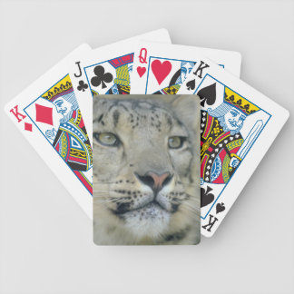 snow leopard bicycle playing cards