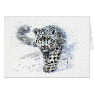 Snow leopard card