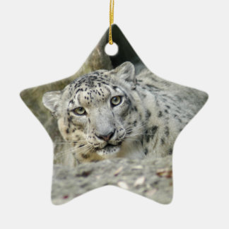 Snow Leopard Christmas Ornament