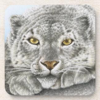 Snow Leopard Cork Coaster