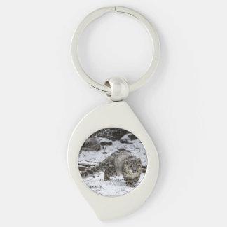 Snow Leopard Cub Key Chain