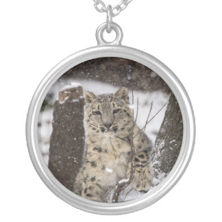 Snow Leopard Cub Silver Plated Necklace
