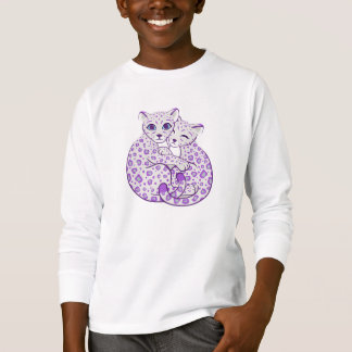 Snow Leopard Cubs Cuddling Art T-Shirt