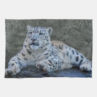 Snow Leopard Dreams Kitchen Towel
