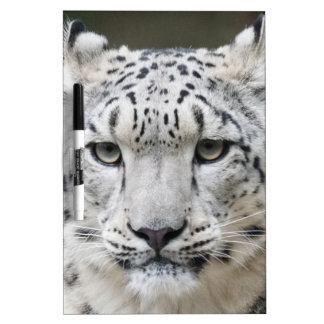 Snow Leopard Dry Erase Board