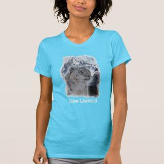 SNOW LEOPARD Endangered Species of Big Cat Tshirt