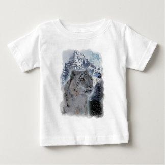 SNOW LEOPARD Endangered Species of Big Cat Tee Shirts