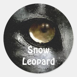 Snow Leopard Endangered Species Stickers