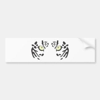 Snow Leopard Eyes Bumper Sticker