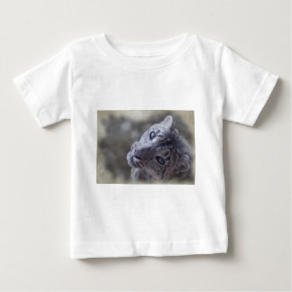 snow leopard face. baby T-Shirt