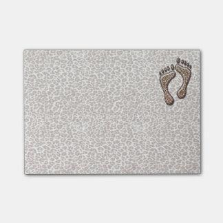 Snow Leopard Feet Post-it Notes