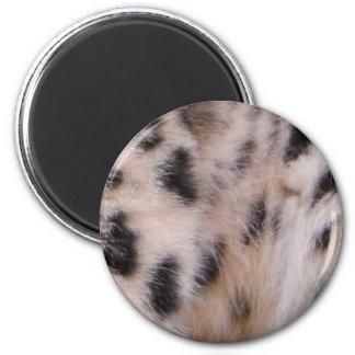 Snow Leopard Fur 6 Cm Round Magnet