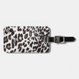 Snow Leopard Fur Luggage Tag