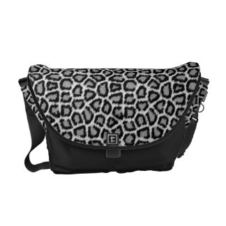 Snow Leopard Fur Pattern Messenger Bag