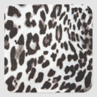 Snow Leopard Fur Square Sticker