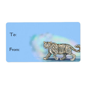 Snow Leopard ~Gift Labels Stickers
