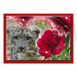 Snow Leopard Holiday Greeting Cards & Note Cards