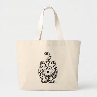 Snow Leopard Jumbo Tote Bag