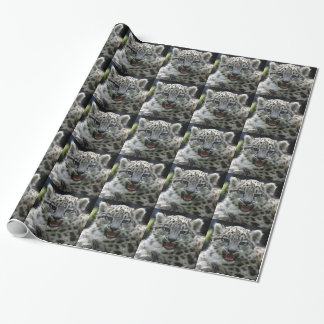 Snow Leopard Kitten Wrapping Paper