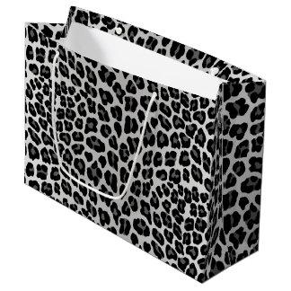 Snow leopard large gift bag