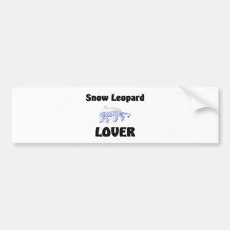 Snow Leopard Lover Bumper Sticker