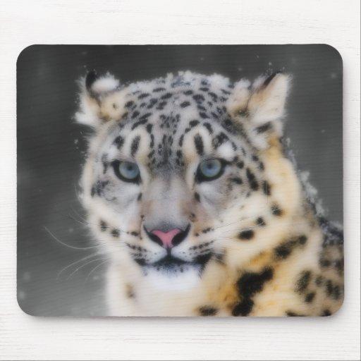 Snow Leopard Mouse Pads