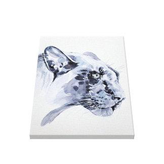 Snow leopard on canvas