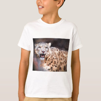Snow Leopard Painting T-Shirt