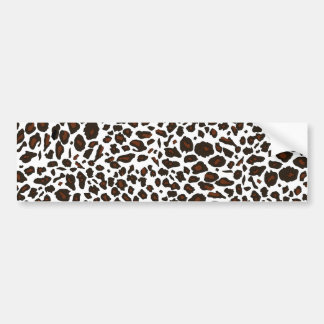 Snow Leopard Print Bumper Sticker