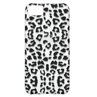 Snow Leopard Print Custom iPhone 5C Case