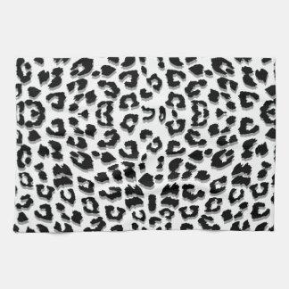 Snow Leopard Print Custom Tea Towel
