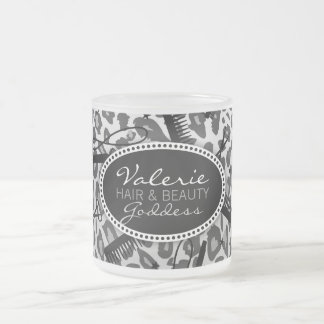 Snow Leopard Print Hair & Beauty (Custom) Mug