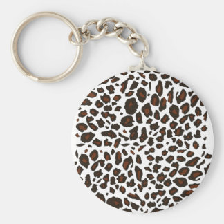 Snow Leopard Print Key Ring