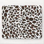 Snow Leopard Print Mousemat