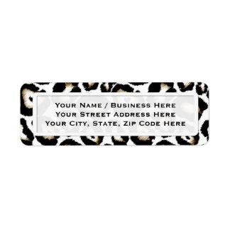 Snow Leopard Print Return Address Labels