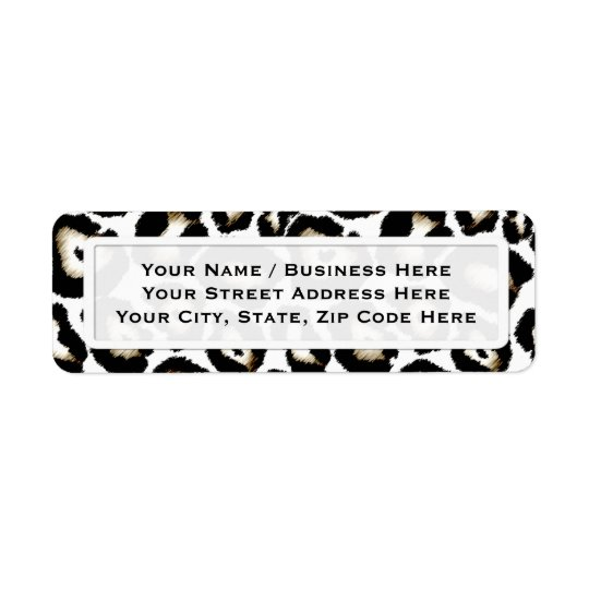 Snow Leopard Print Return Address Labels